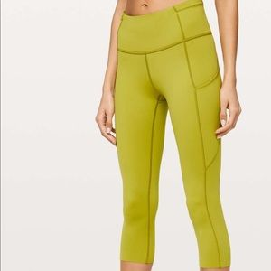 "Lululemon Fast and Free crop 19"" nulux"